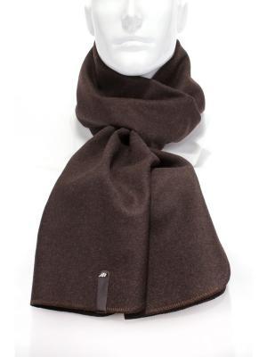 Шарф из пальтовой ткани ANTAR. Цвет: коричневый