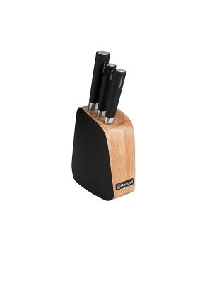 Нож кухонный Rondell RD-485. Цвет: коричневый, черный