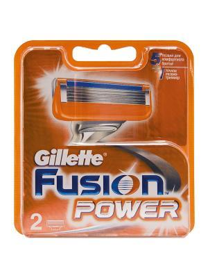Сменные кассеты для бритья FUSION Power, 2 шт GILLETTE. Цвет: оранжевый