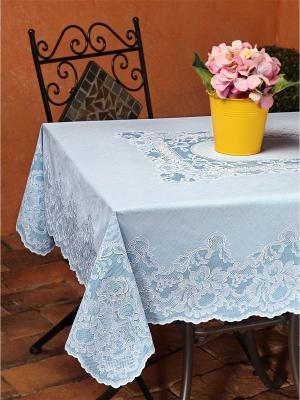Скатерть прямоугольная голубая 110х140 см NIKLEN. Цвет: голубой
