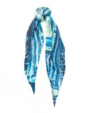 Палантин из модала и кашемира Blue Salad Arsenicum. Цвет: бирюзовый, салатовый, белый