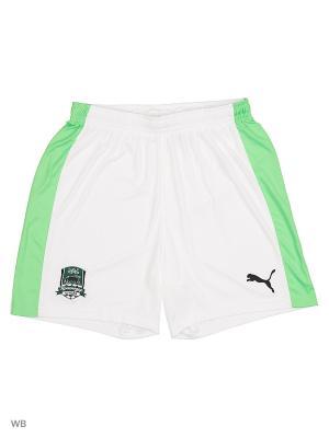 Шорты FK Krasnodar Shorts Academy Puma. Цвет: зеленый, белый