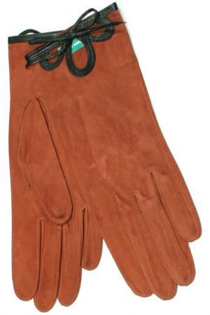 Перчатки Dali Exclusive. Цвет: кирпичный