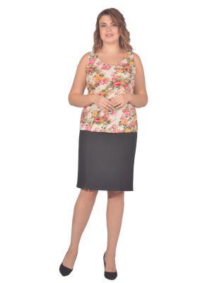 Топ Томилочка Мода ТМ. Цвет: бежевый, красный
