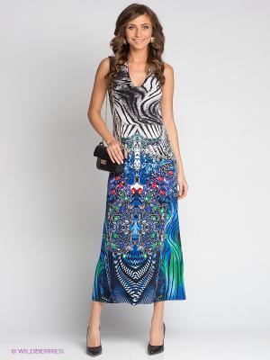 Платье Lussotico. Цвет: синий, зеленый