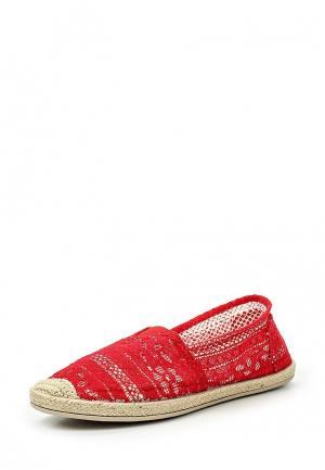 Эспадрильи Sweet Shoes. Цвет: красный