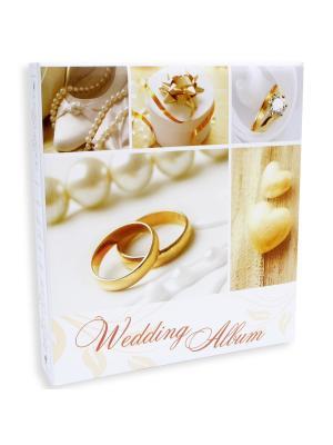 Фотоальбом 50 магнитныхлистов 23X28см, Wedding rings VELD-CO. Цвет: бежевый,белый