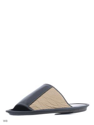 Тапочки-пантолеты PANTOLETTI. Цвет: черный, бежевый
