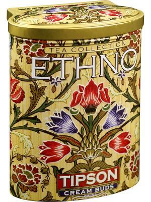 Зелёный цейлонский чай с ароматами саусэпа и персика Этно-Кремовые бутоны, 100 гр Tipson. Цвет: зеленый, бежевый, красный