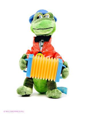 Мягкая игрушка Крокодил Гена с аккордеоном Мульти-пульти. Цвет: зеленый