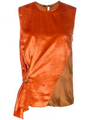 Топ со сборкой сбоку Damir Doma. Цвет: жёлтый и оранжевый
