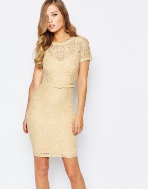 Body Frock Кружевное платье лимонного цвета Anya. Цвет: желтый