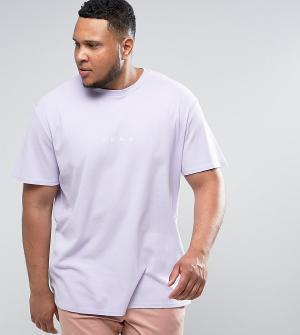 Puma Фиолетовая oверсайз-футболка из вафельного трикотажа PLUS эксклюз. Цвет: фиолетовый