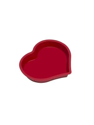 Силиконовая форма для выпечки Сердце OURSSON. Цвет: красный