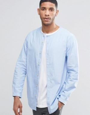 ADPT Рубашка без воротника. Цвет: синий