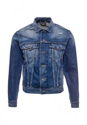 Куртка джинсовая Pepe Jeans. Цвет: синий