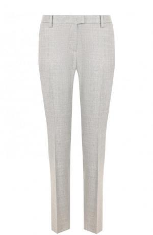 Укороченные шерстяные брюки со стрелками Windsor. Цвет: серый