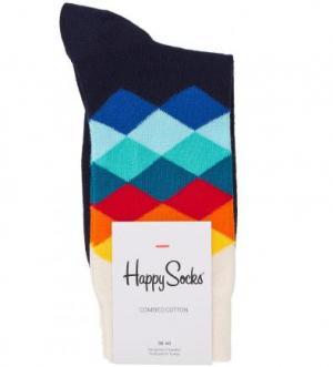 Разноцветные хлопковые носки Happy Socks. Цвет: мультиколор
