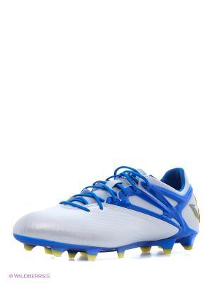 Бутсы Messi 15.1 Fg/Ag Adidas. Цвет: синий, белый