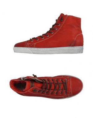 Высокие кеды и кроссовки STOKTON. Цвет: красный