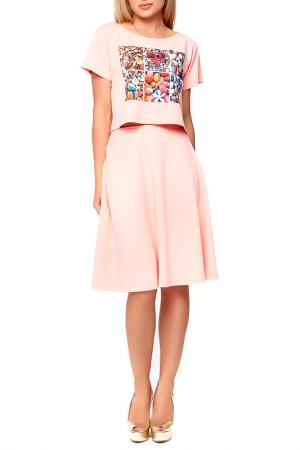 Костюм: топ, юбка Majaly. Цвет: оранжевый