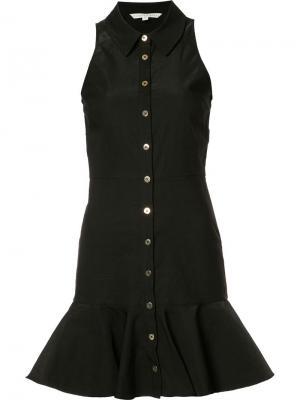 Платье с расклешенным подолом Veronica Beard. Цвет: чёрный