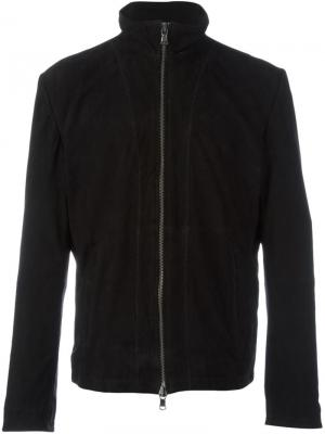 Замшевая куртка на молнии John Varvatos. Цвет: чёрный