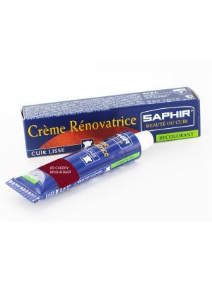 Восстановитель кожи Creme RENOVATRICE, 25 мл. (жидкая кожа)(89 вишневый) Saphir. Цвет: темно-красный