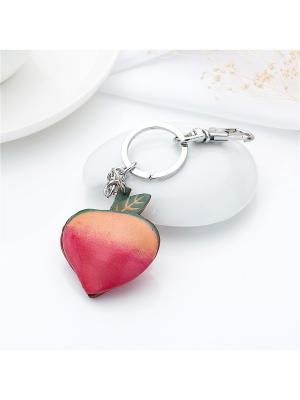 Брелок Яблочко Honey Jewelry. Цвет: серебристый