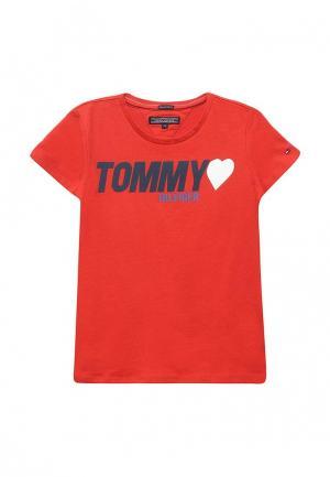 Футболка Tommy Hilfiger. Цвет: красный