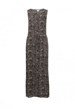 Платье Luhta. Цвет: коричневый