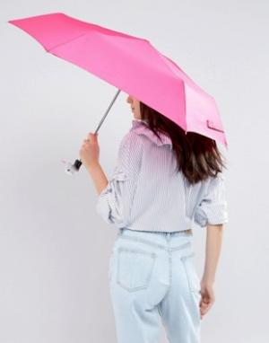 Totes Розовый зонт с ручкой в форме утки. Цвет: розовый