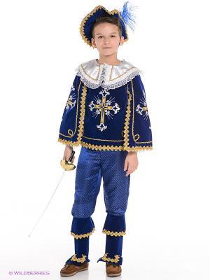 Карнавальный костюм Мушкетер короля Батик. Цвет: синий