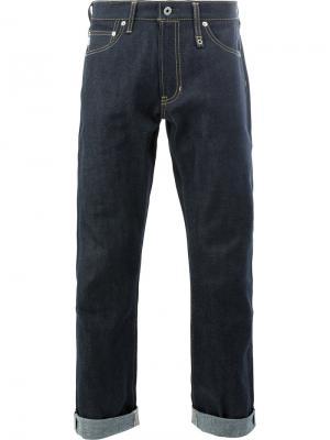 Укороченные джинсы прямого кроя Fdmtl. Цвет: синий