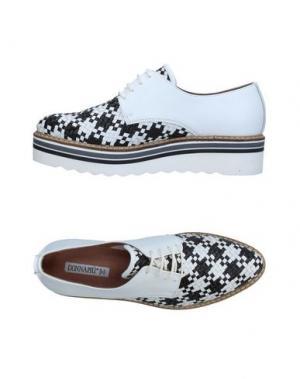 Обувь на шнурках DONNA PIÙ. Цвет: белый