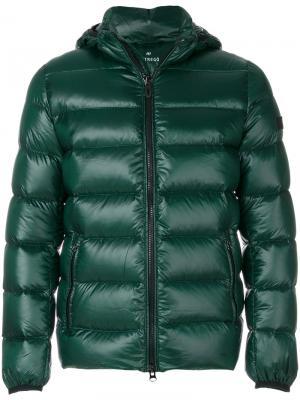 Пуховая куртка с капюшоном Hetregò. Цвет: зелёный