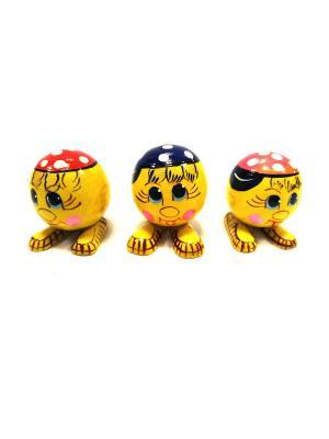 Сувенирные игрушки - Колобки в кепках Taowa. Цвет: желтый, красный, черный