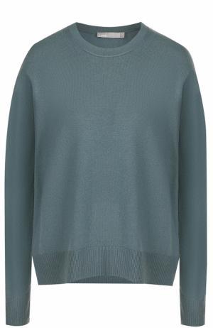 Кашемировый пуловер свободного кроя Vince. Цвет: темно-зеленый
