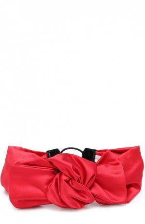 Атласная повязка Jennifer Behr. Цвет: бордовый