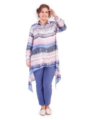 Блузки Lady Sharm Classic. Цвет: светло-голубой