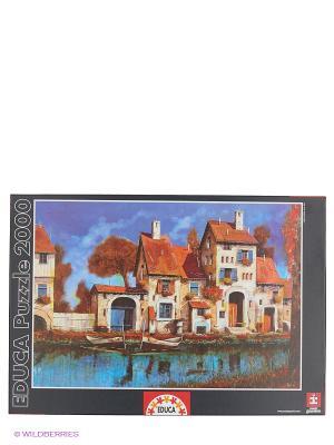 Пазл Дом на берегу озера, Гвидо Борелли, 2000 деталей Educa. Цвет: черный