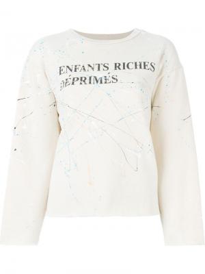 Толстовка с принтом-логотипом Enfants Riches Deprimes. Цвет: телесный