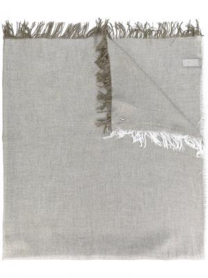Шарф с бахромой Dondup. Цвет: коричневый