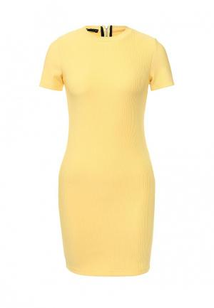 Платье oodji. Цвет: желтый