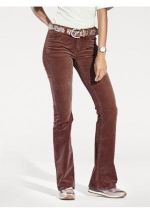 Вельветовые брюки B.C. BEST CONNECTIONS by Heine. Цвет: каштановый, серый, чернильный