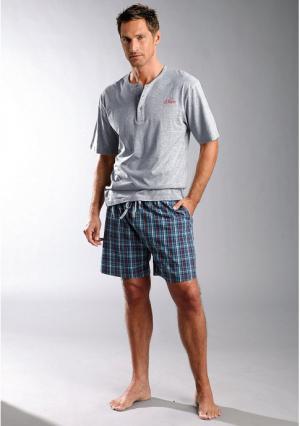 Пижама с шортами s.Oliver. Цвет: лиловый, серый меланжевый