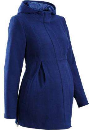Мода для беременных: регулируемое полупальто с капюшоном (черный) bonprix. Цвет: черный