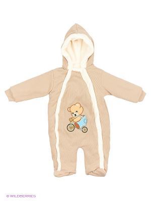 Комбинезон Babycollection. Цвет: коричневый, светло-коричневый, темно-бежевый, бежевый