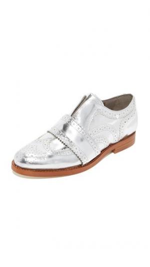 Ботинки на шнурках Maddie Hudson London. Цвет: голубой