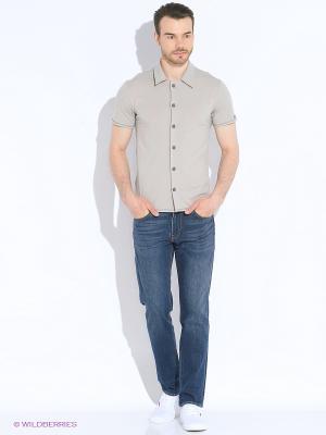 Рубашка JB casual. Цвет: бежевый
